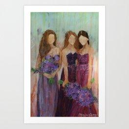 Bridesmaid Sista Trio Art Print