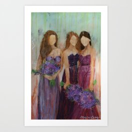 Bridesmaid Sista Trio Art Print