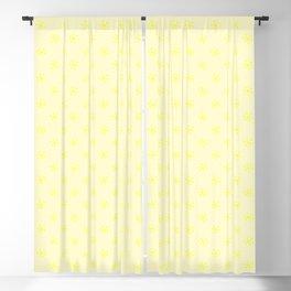 Electric Yellow on Cream Yellow Snowflakes Blackout Curtain