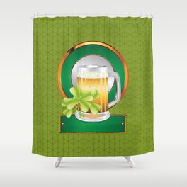 Beer and clover Shower Curtain