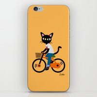 cycling iPhone & iPod Skins featuring Summer cycling by BATKEI