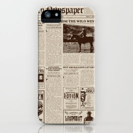 Vintage Newspaper iPhone Case