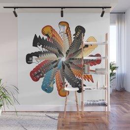 Guitar Spiral Wall Mural