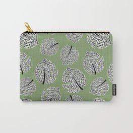 Abstract Monstera Leaf Pattern green Carry-All Pouch