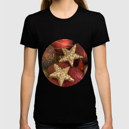 Christmas ornaments red and gold T-shirt