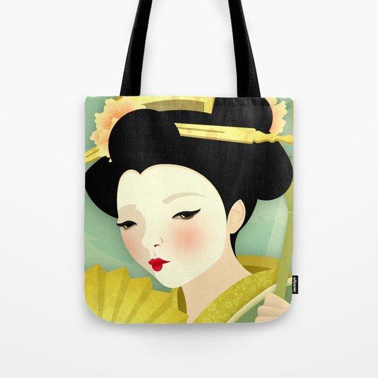 Geisha: Olive Tote Bag