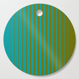 gradient stripes aqua olive Cutting Board