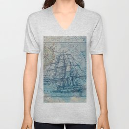 Clipper Ship Unisex V-Neck