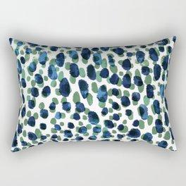 Blue & Green Brushstrokes Rectangular Pillow