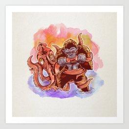 King Kong Calamari Art Print