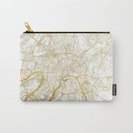 Moscow Map Gold Carry-All Pouch