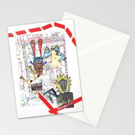 Crazy city map (collage) Stationery Cards