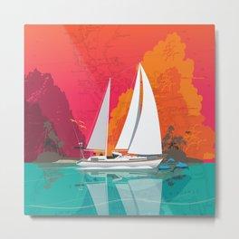 Sailing to Delos Metal Print