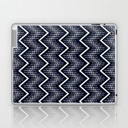 Dark Blue & White Zigzag Pattern Design Laptop & iPad Skin