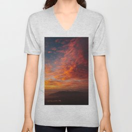 Colorful Maui Sunset Unisex V-Neck