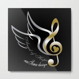 Angel of Hope Wings Metal Print