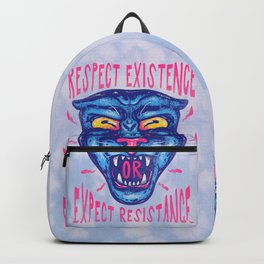 Respect Existence or Expect Resistance - Black History Month BHM Backpack