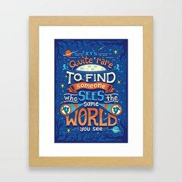 Same World Framed Art Print