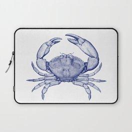 Stone Crab Navy Blue by Zouzounio Art Laptop Sleeve