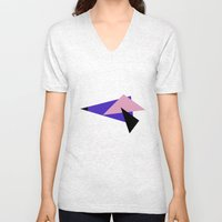 Misplaced Triangles Pastel // www.pencilmeinstationery.com Unisex V-Neck
