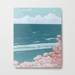 Retro Ocean Metal Print