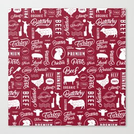 Butchery Meat Lovers Canvas Print