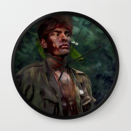 Charlie Sheen @ Platoon Wall Clock