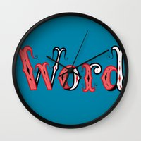 word Wall Clocks featuring Word by greckler