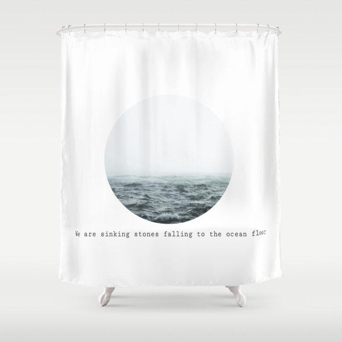 Sinking Stones Shower Curtain