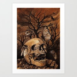 Autumnal Melancholy Art Print