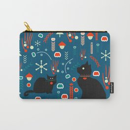 Black kitties in winter Carry-All Pouch
