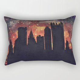 Starry Night in Pittsburgh Rectangular Pillow
