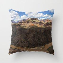 Grand Canyon River View Throw Pillow