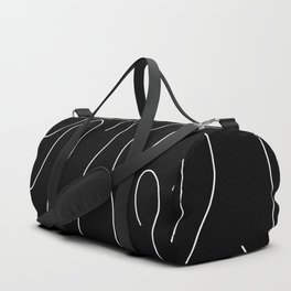 Bright White on Pitch Black Duffle Bag