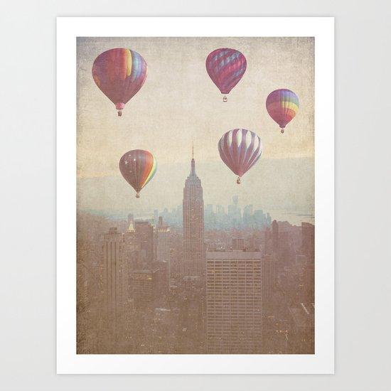 Balloons over Midtown Art Print