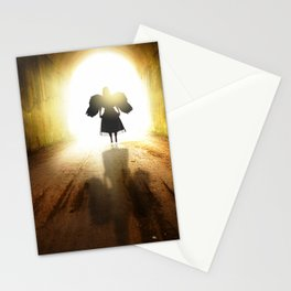 Angel In A Tunnel Of Light Stationery Cards