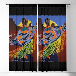 Shaw Dancer #3 Square Blackout Curtain