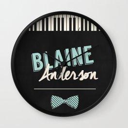 Blaine Anderson Piano Wall Clock