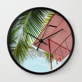 Life Under The Palm Tree Wall Clock