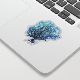 Fan Coral - Aqua Sticker