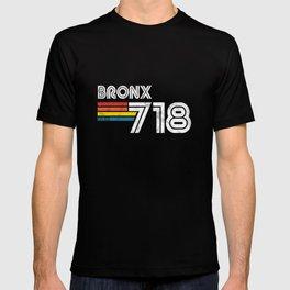 Vintage Bronx 718 New York Gift USA America City T-shirt