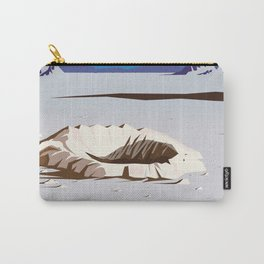 Moon - Vintage Sci-fi travel poster Carry-All Pouch