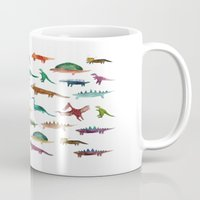 dinosaurs Mugs featuring dinosaurs by victoriazorus