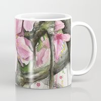 cherry blossom Mugs featuring Cherry Blossom by Olechka