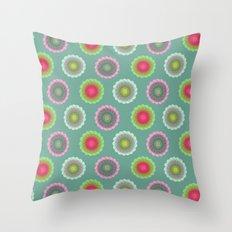 transparent floral pattern 3 Throw Pillow