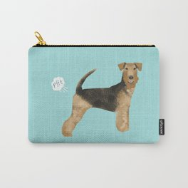 Airedale Terrier funny fart dog breed gifts Carry-All Pouch