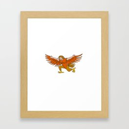 Lleu Llaw Gyffes Spread Eagle Cartoon Framed Art Print