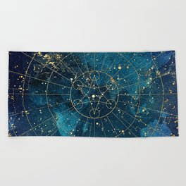 Star Map :: City Lights Beach Towel