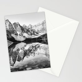 Moraine Lake Reflection Black and White Stationery Cards