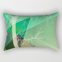 P22-B2 TREES AND TRIANGLES Rectangular Pillow
